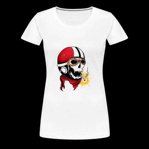 Oldschool skull - T-shirt Premium Femme