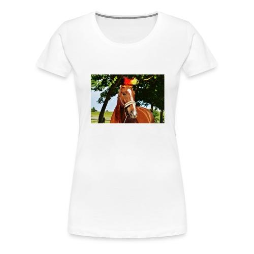 T-Shirt Pferd-Mit Hud - Frauen Premium T-Shirt