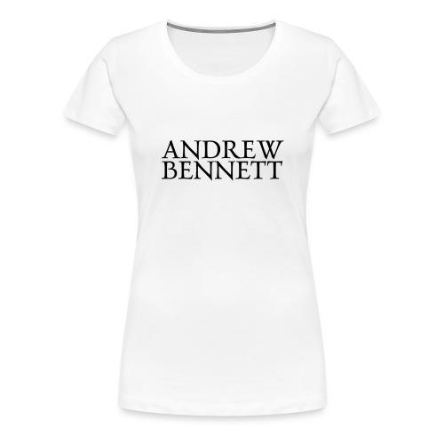 Andrew Bennett Logo noir - T-shirt Premium Femme