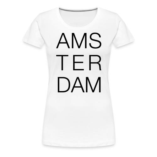 AMSTERDAM - Dame premium T-shirt