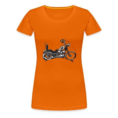 0906 chopper knucklehead - Vrouwen Premium T-shirt