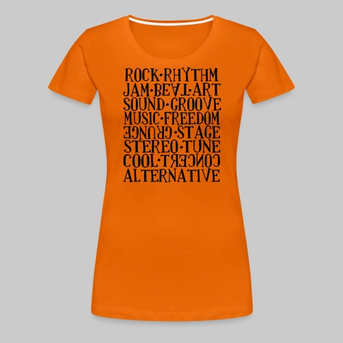 Wortmix Musik - Frauen Premium T-Shirt