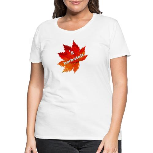 Es herbstelt - Herbst - Blätter - Frauen Premium T-Shirt