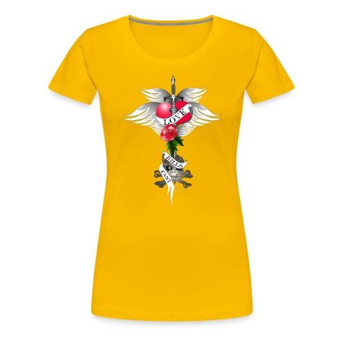Love kills fast - Liebe tötet schnell - Frauen Premium T-Shirt