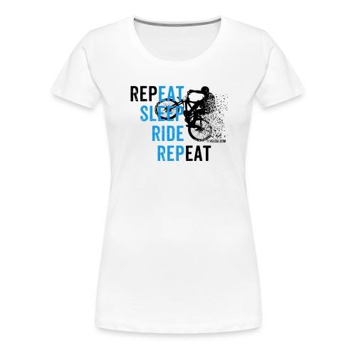 Eat Sleep Ride Repeat MTB b - Naisten premium t-paita