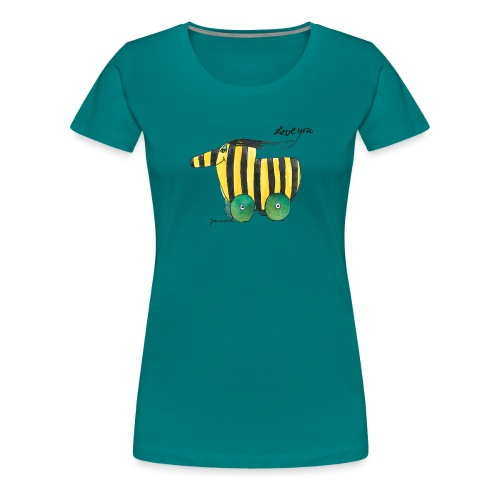Janosch Tigerente Love you - Frauen Premium T-Shirt