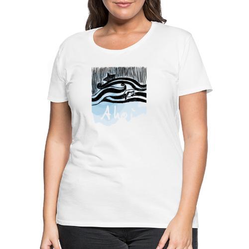 WELLEN SCHIFF FISCH - Frauen Premium T-Shirt