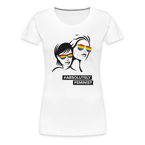 L-BEACH Rainbow Glasses - Frauen Premium T-Shirt