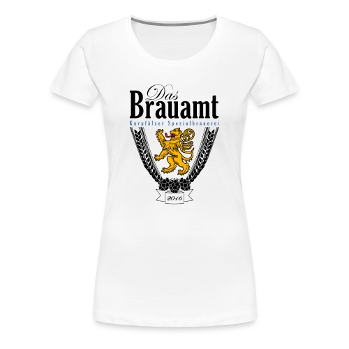 Brauamt Logo schwarz - Frauen Premium T-Shirt