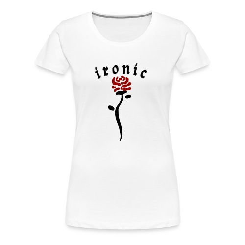 Ironic Rose - Dame premium T-shirt