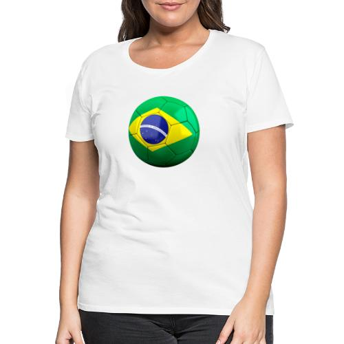 Bola de futebol brasil - Women's Premium T-Shirt