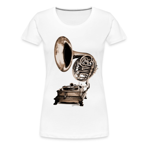 Grammo-Horn - Frauen Premium T-Shirt