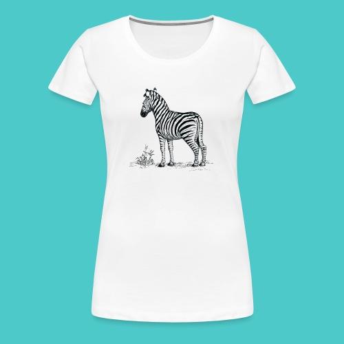 Cebra - Camiseta premium mujer