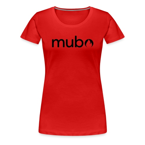 mubo Logo Word Black - Women's Premium T-Shirt