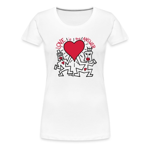 Love is the Answer by Oliver Schibli - Women's Premium T-Shirt