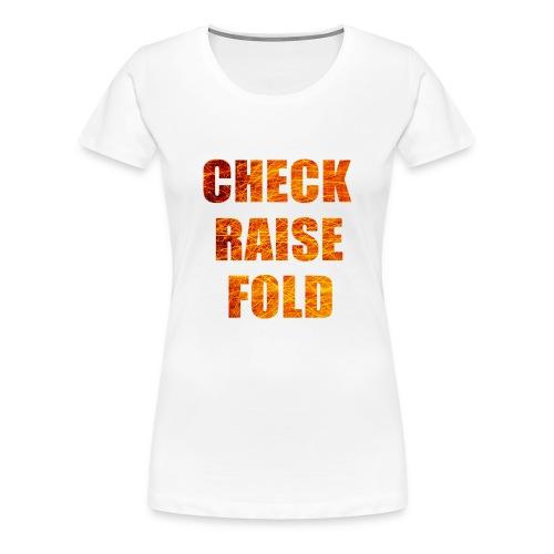 Check Raise Shirt - Women's Premium T-Shirt