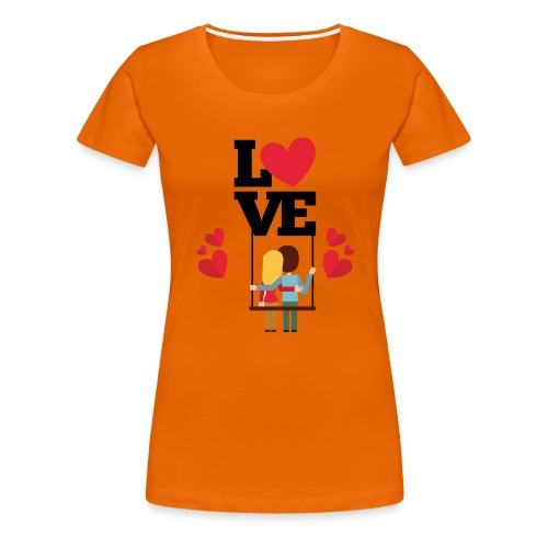 Love couple t-shirt - T-shirt Premium Femme