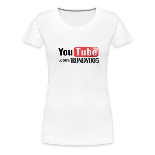 16482 2CYouTubecom RONDY005 - Women's Premium T-Shirt