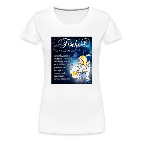 Schutzengel-Sternzeichen-Tasse Fische - Frauen Premium T-Shirt