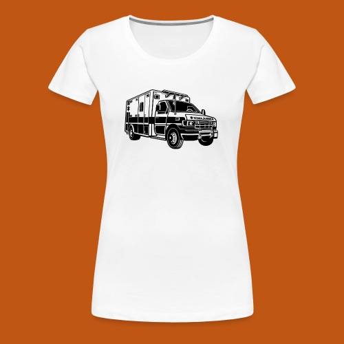 Krankenwagen / Rettungswagen 01_schwarz - Frauen Premium T-Shirt