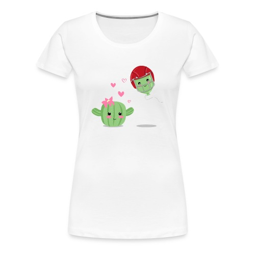 Cactus y Globo, amor - Camiseta premium mujer