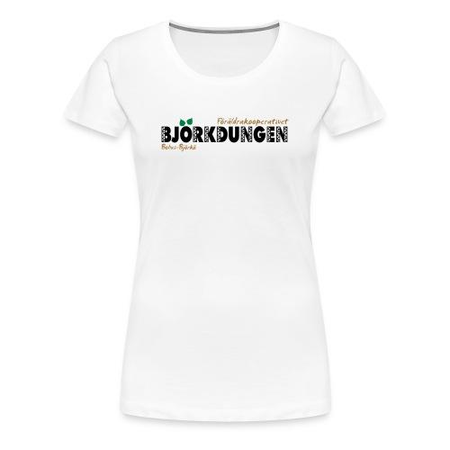 Björkdungen Logo 3-color - Premium-T-shirt dam