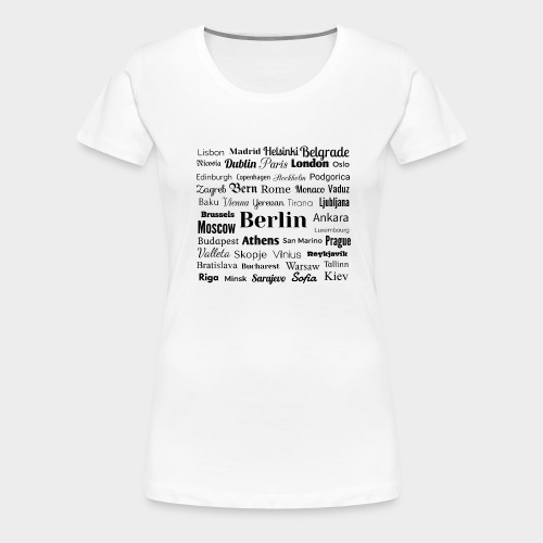 European capitals - Women's Premium T-Shirt