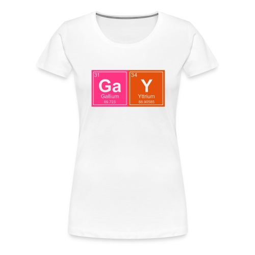 Geeky Gay Periodic Elements - Women's Premium T-Shirt