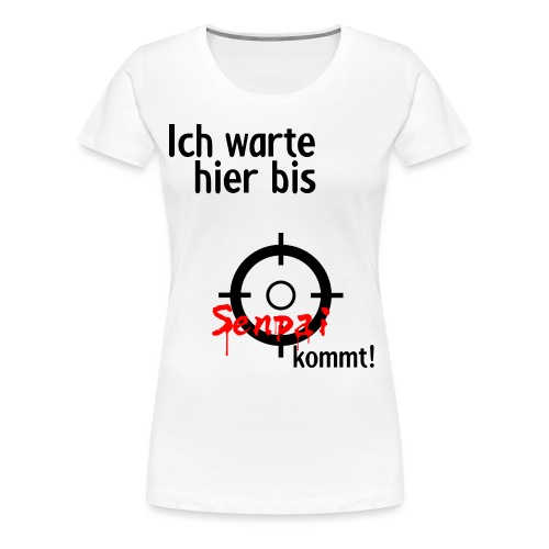 Warten auf Senpai 2v2 - Frauen Premium T-Shirt