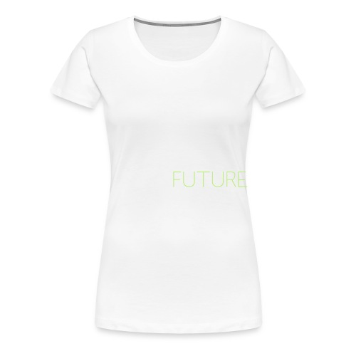 T-Shirt Shutter with Logo Text white and green - Premium-T-shirt dam