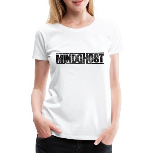 Mindghost Logo Black - Premium-T-shirt dam