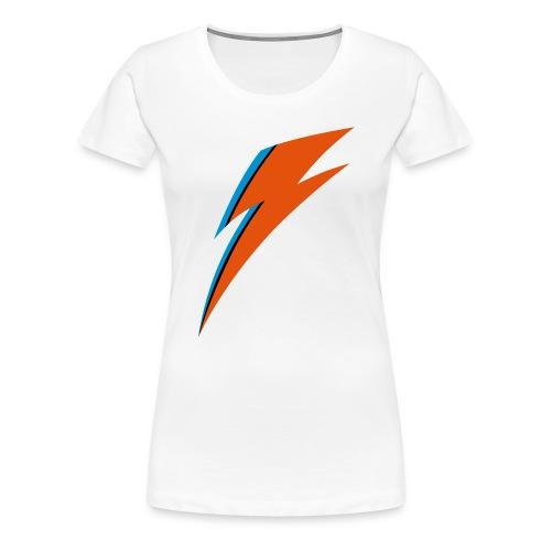 David Bowie Flash Tribute - Frauen Premium T-Shirt