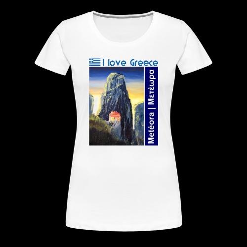 I love Greece. Blue Meteora - Frauen Premium T-Shirt