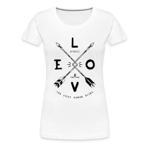 LOVE Black png - Frauen Premium T-Shirt