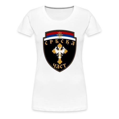 serbisk trøje - Dame premium T-shirt