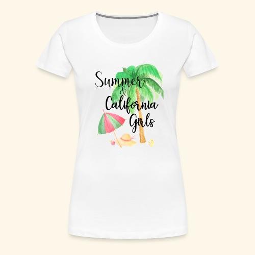 California Girl at Beach - Frauen Premium T-Shirt