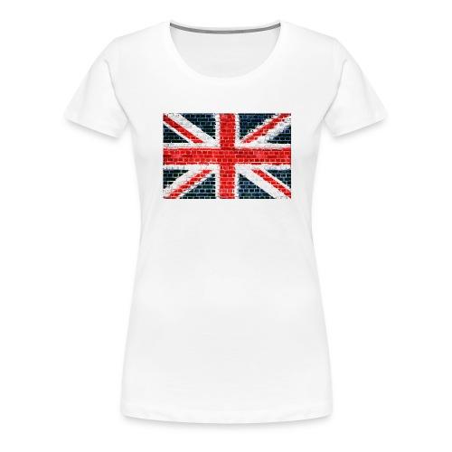 Union Jack Brick Wall - Women's Premium T-Shirt