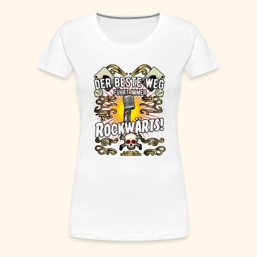 Rock Music Shirt ROCKWÄRTS - Frauen Premium T-Shirt