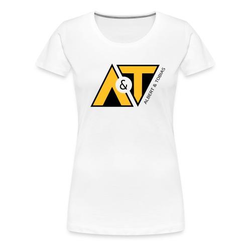 A & T - logo - S/H - Dame premium T-shirt