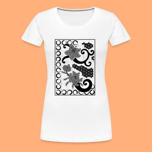 fleurs et graphisme - T-shirt Premium Femme