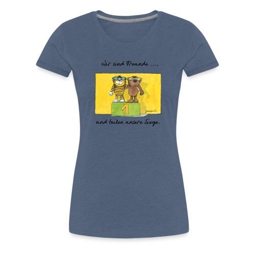 Janoschs 'Wir sind Freunde, und teilen ...' - Frauen Premium T-Shirt