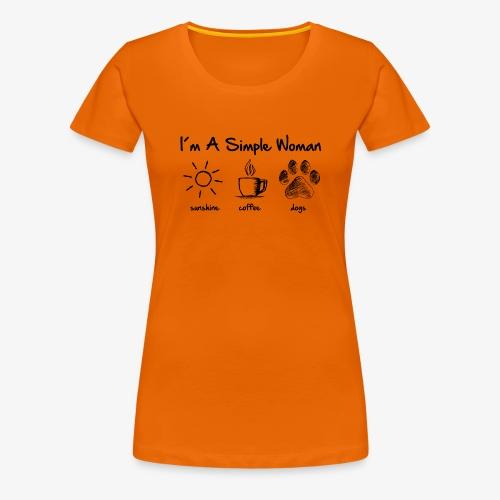 simple woman dog - Frauen Premium T-Shirt