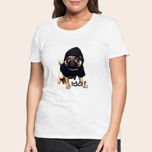 yo_mops_3 - Frauen Premium T-Shirt