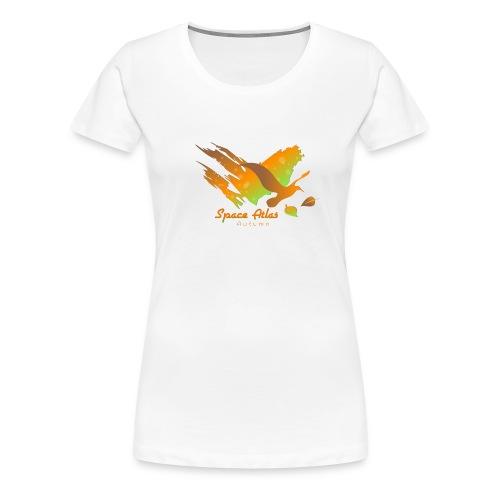 Space Atlas Longshirt Tee Autumn Leaves - Dame premium T-shirt