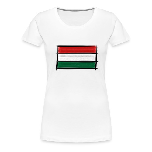 Art Flagge Ungarn - Frauen Premium T-Shirt