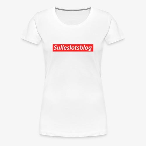 Box logo - Dame premium T-shirt