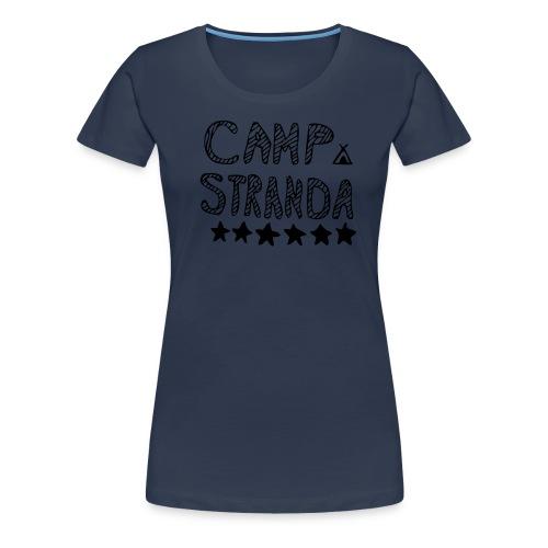 campstrandalogomedcampingmerke - Premium T-skjorte for kvinner