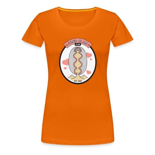 Sand Clam Clan -logokassi - Naisten premium t-paita