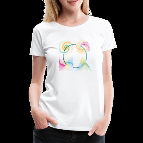 Regenbogen Geometrie - Frauen Premium T-Shirt