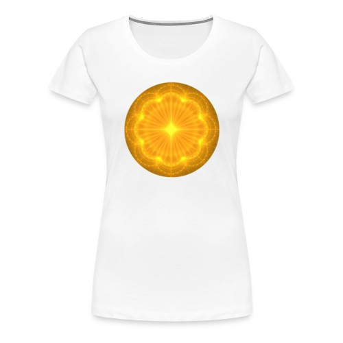Golden Radiance Mandala Heart - Vrouwen Premium T-shirt